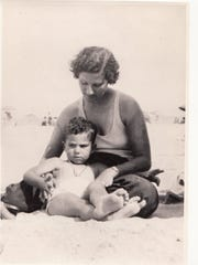 Philip Roth and his mother enjoying the summer sun