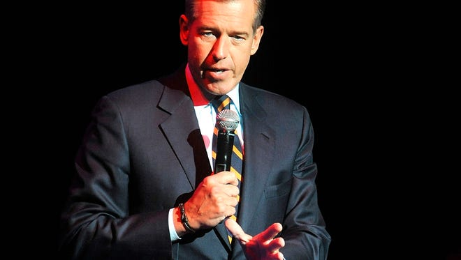 Brian Williams speaks Nov, 5, 2014, at the 8th Annual Stand Up For Heroes, presented by New York Comedy Festival and The Bob Woodruff Foundation in New York.