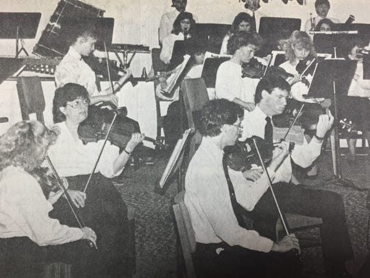 The Owensboro Youth Orchestra was in concert in March 1988 at First Baptist Church in Sturgis. Sturgis native Rozanna Dalton Thompson played the harp. Sturgis residents Jeannie and Will Simpson also played in the concert. Jeannie played the clarinet and Will played the timpani.