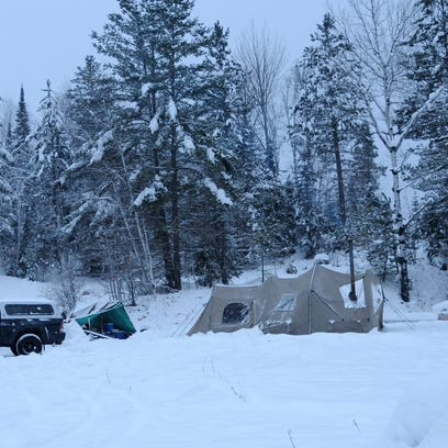 Heavy snow turned Minnesota's Boundary Waters region
