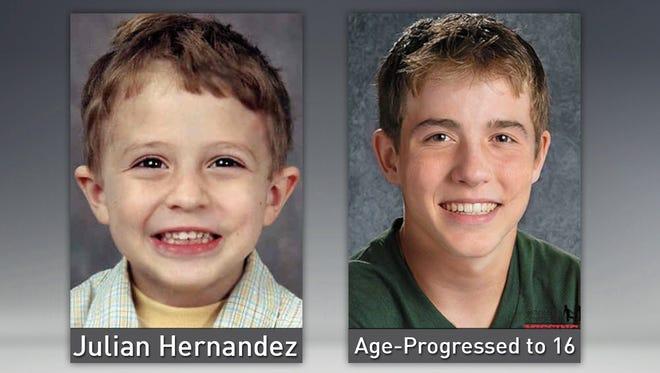 Julian Hernandez, now 18.