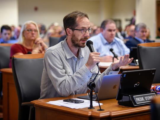 Council member Freddie O'Connell asks Chief Operating