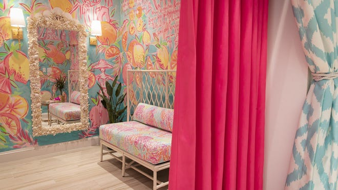 Three of the two Lilly Pulitzer shops on Palm Beach temporarily closed Tuesday.
