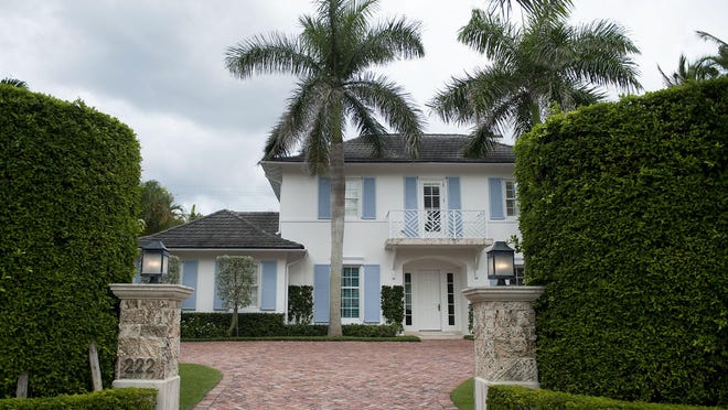 A West Indies-style house at 222 Ridgeview Drive just sold privately for a recorded $6.5 million on the North End of Palm Beach, the deed recorded Monday shows. The buyers were Schuyler M. and Elizabeth A. Tilney, who two weeks ago sold a vacant lot across town for $6.25 million.