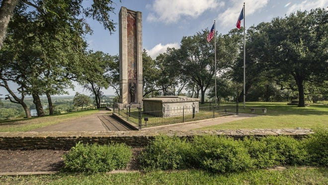 Monument Hill above La Grange was selected in 1848 as a cemetery for the Texans who died in the Dawson Massacre (1842), along with the dead of the Texan Santa Fe (1841) and Mier (1842) expeditions, and those captured during Gen. Adrián Woll's raid on San Antonio (1842).