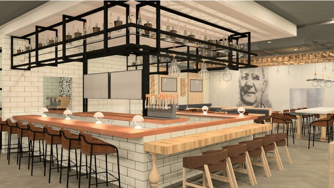 A rendering of what Urban 80 Kitchen + Bar will look like when the Delta Hotels by Marriott Green Bay opens this summer.