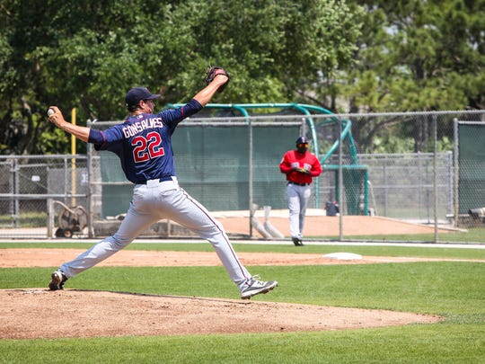 Stephen Gonsalves was starting pitcher during the exhibition game against the Red Sox. Opening day for the Fort Myers Miracle is almost here. The team is practiced up and ready to get the season started.