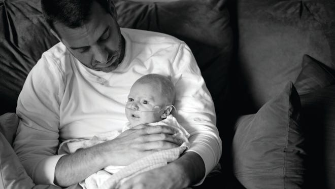Dave Randall and his son, Cole.