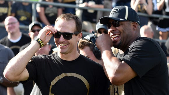 Drew Brees was back in West Lafayette and watched Purdue