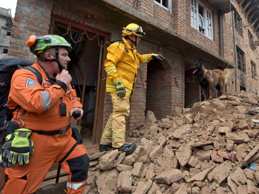 Nepal magnitude-7.8 earthquake