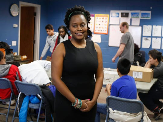 Nancy Mwirotsi , shown here in 2015, is the founder of Pi 515, a program which teaches coding and other tech skills to refugee and low-income kids in the Des Moines metro area.