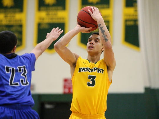 January 14, 2014; Brockport, NY; USA; John Ivy (3) during Brockport Golden Eagles Men's Basketball vs. Fredonia Blue Devils at Jim and John Vlogianitis Gymnasium. Photo: Christopher Cecere