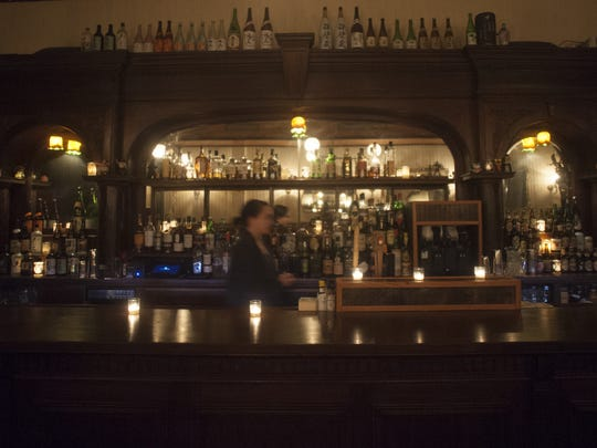A view of the bar at the Royal Izakaya Restaurant in
