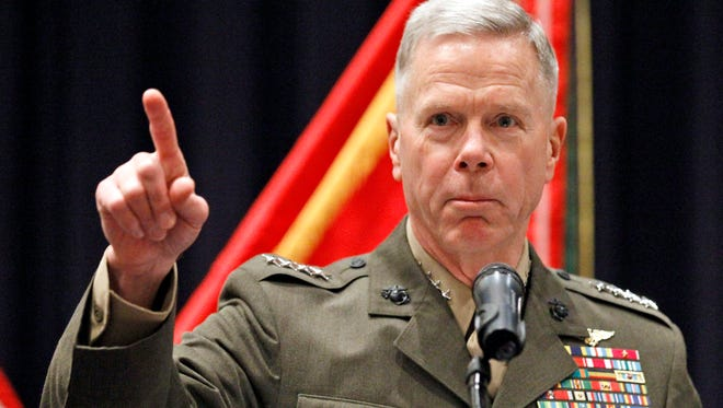 Gen. James Amos is commandant of the Marine Corps.