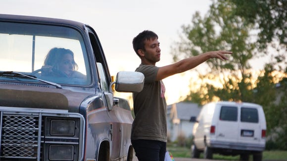 "South Dakota native Andrew Kightlinger on set while filming ""Tater Tot & Patton."""