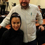 Washington Post correspondent Jason Rezaian and his wife in Tehran in 2013. AFP/Getty Images