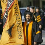 Graduates from Purdue University's College of Engineering participate in commencement ceremonies in May. Many engineering students say Indiana University's recently announced engineering degree can't compete with Purdue's College of Engineering.