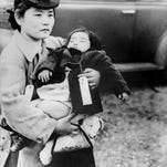 Smithsonian via APJapanese Americans sent to an internment camp in Bainbridge Island, Wash., in 1942. Japanese Americans sent to an internment camp in Bainbridge Island, Wash., in 1942.