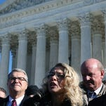 Plaintiff Rebecca Friedrichs at the Supreme Court on Jan. 11, 2016.