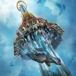 This artist's rendering supplied by Busch Gardens shows Falcon's Fury, a new thrill ride opening May 1 at the theme park in Tampa.