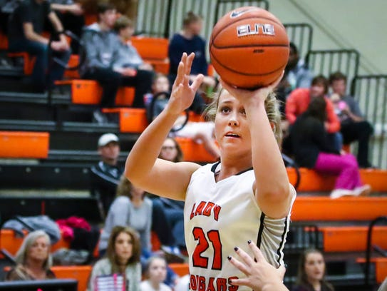 MTCS' Abby Buckner attempts a shot in a recent game.