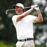 Scott Piercy of the United States follows his shot
