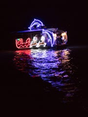 """Captain Beau Middlebrook and his crew earned the title of """"best overall"""" in this year's Isles of Capri's Annual Christmas Boat Parade on Dec. 10."""