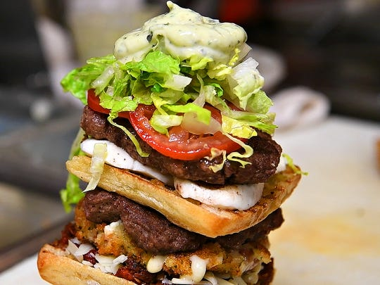The Mediterranean Monster Burger at Mezzogiorno at