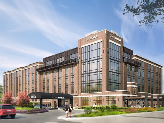 Rendering of Lodge Kohler in the Titletown District, expected to open in Summer 2017.