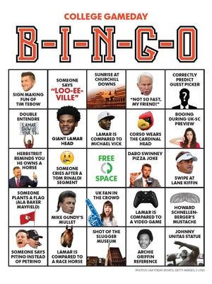 College Gameday bingo
