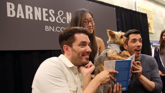 Fans of Property Brother's Drew and Jonathan Scott attend a book signing at Barnes & Nobles in White Plains on June 27, 2016.