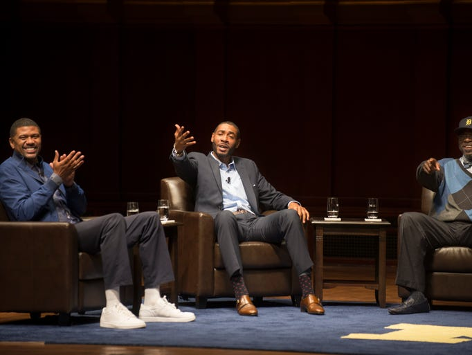 Left to right, Jalen Rose, Jimmy King and Ray Jackson