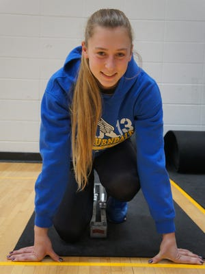 Auburndale senior Sylviann Momont has qualified for the state track meet for three straight years.