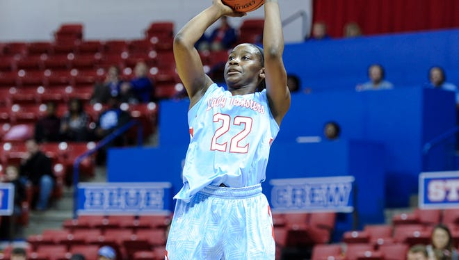 Louisiana Tech's Jasmine LeBlanc goes up for a shot earlier this season for the Lady Techsters, who host FIU on Thursday in the C-USA home opener.