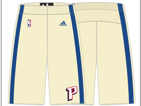 The shorts of the Detroit Pistons' Christmas uniforms, as obtained from an industry source.