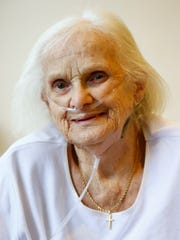 Eleanor Sherman at the Chemung County Nursing Facility on Wednesday, December 6, 2017.