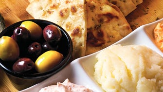 Pikilia features pita, olives and more at Angelo's Greek Taverna in Maywood.