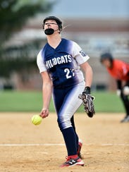 Dallastown's Kelsie Merriman delivers a pitch against