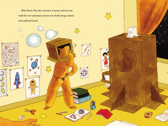A page from 'Mae Among the Stars.'