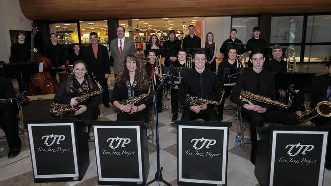The Teen Jazz Project performs Wednesday at the Schorr Family Firehouse Stage in Johnson City.