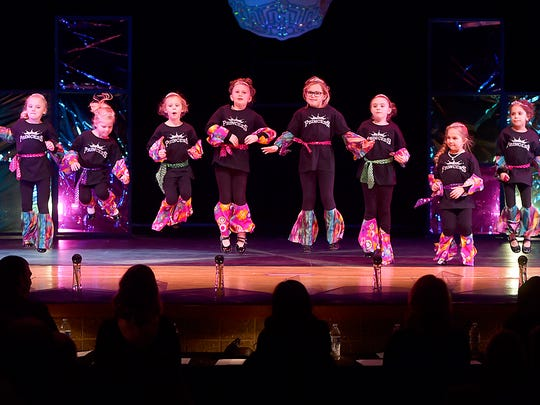 The Princesses perform a dance during the 21st annual Miss Door County Pageant on Saturda.