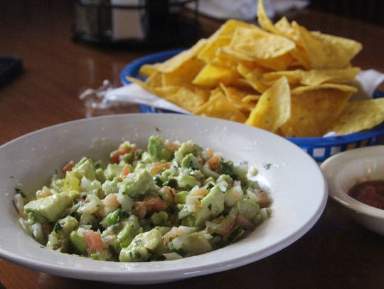 Fresh guacamole and salsa at Pablo's Mexican Restaurant