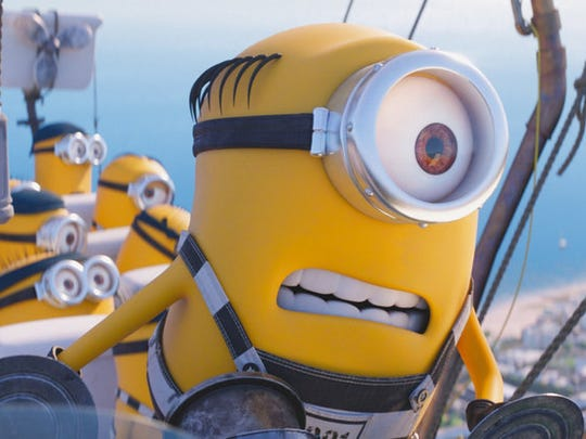 """The Minions in a scene from """"Despicable Me 3.""""  The"""