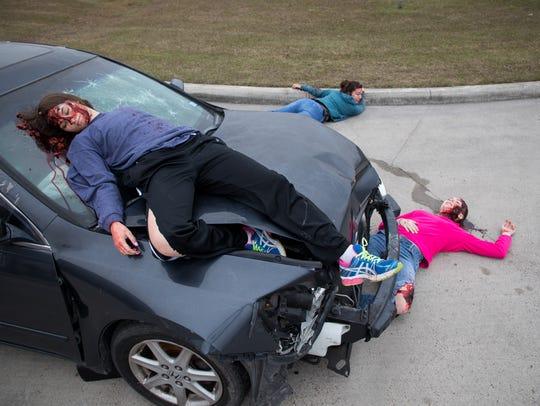 London High School recreate a drunken driving accident