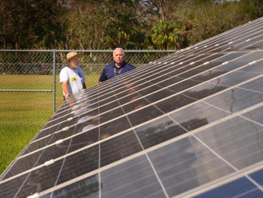There will be a tour of solar power operations in Brevard