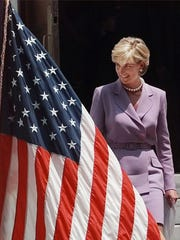 In the 1990s, Diana often wore power suits, including