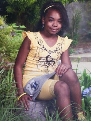 Tiya Hudson, 13, was struck by a stray bullet while sleeping in her bed.