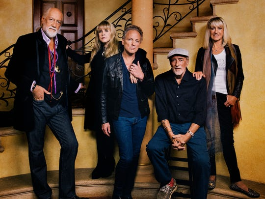 The reunited Fleetwood Mac, from left, Mick Fleetwood, Stevie Nicks, Lindsey Buckingham, John McVie and Christine McVie.
