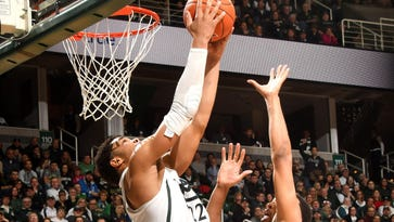 Freshman Miles Bridges averaged 15.5 points and 10 rebounds in two games last week for the Spartans (16-11, 8-6 Big Ten).