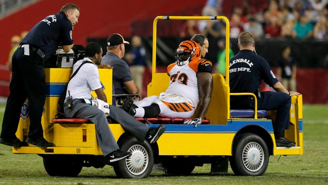 The Cardinals avoided major injuries on Sunday night, but the Cincinnati Bengals did not in their preseason game.